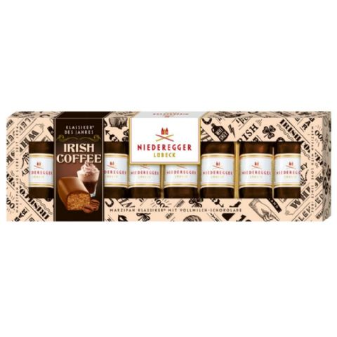 8 x Irish Coffee Milk Chocolate Marzipan Mini Loaves NIEDEREGGER 100g